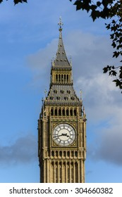 Palace of Westminster (Houses of Parliament) Elizabeth Tower (Big Ben clock tower), London, United Kingdom
