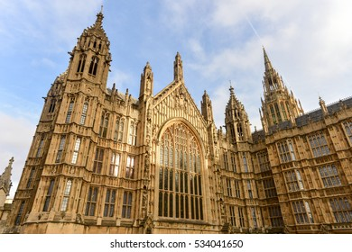 The Palace of Westminster in London, England.