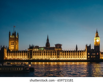 Palace of Westminster at magic hour