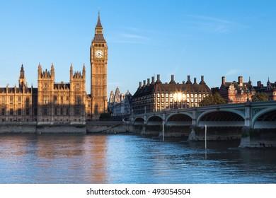 Palace of Westminster at Sunrise, London, United Kingdom