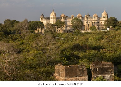 Palaces and temples of the Chittorgarh fort in Rajasthan which is the largest fort in India & Asia. It's listed on the UNESCO World Heritage List as Hill Forts of Rajasthan. India.