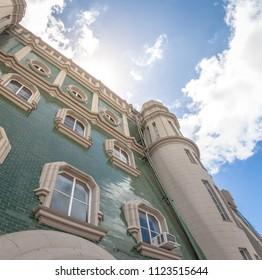 Palacio Barolo (Barolo Palace) Terrace facade - Buenos Aires, Argentina