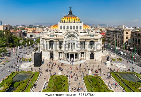 Palacio de Bellas Artes or Palace of Fine Arts, a famous theater,museum and music venue in Mexico City