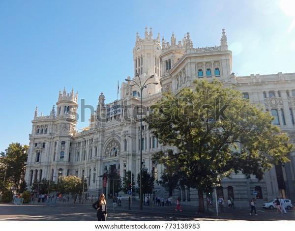 Palacio De Cibeles Central Madrid Spain Stock Photo Edit