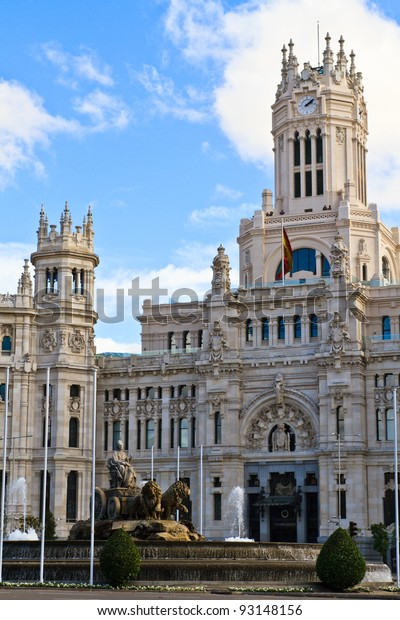 Palacio De Cibeles Madrid Spain Stock Photo Edit Now 93148156
