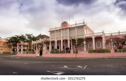 Palacio do Povo (People's Palace), or Palacio do Mindelo, (formerly the Palacio do Governador Governor's Palace) in Sao Vicente island in Cape Verde - Republic of Cabo Verde