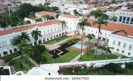 palacio dos leoes, historical building in sao luis do maranhao, brazil