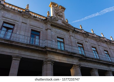Palacio Municipal building, colonial architecture in the city of Aguascalientes, Aguascalientes state, Mexico