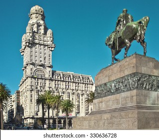 Palacio Salvo in Montevideo, Uruguay High Definition horizontal