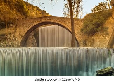 Palaiokaria waterfall at Trikala in Greece.