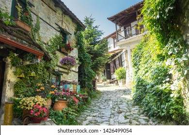 Palaios Panteleimonas, traditional greek village in Pieria region, near Olympus mountain