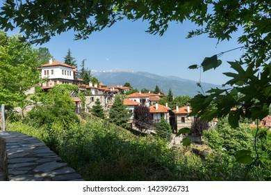 Palaios Panteleimonas, traditional mountain greek village in Pieria region, near Mountain Olympus and Platamonas Castle