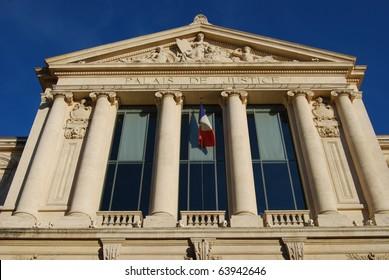 Palais de Justice law courts, Nice, France