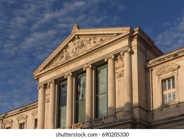 The Palais de Justice, one of the beautiful old buildings in Nice, France