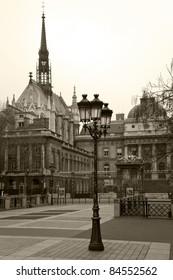 Palais de Justice (Palace of Justice) in Paris. France.