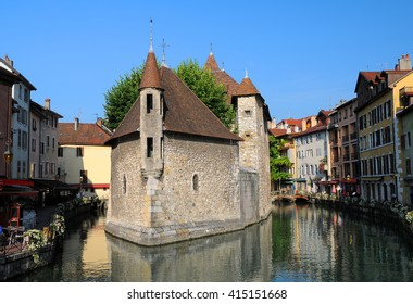The Palais de l'Isle (Island Palace) at summer sunny day in Annecy, France