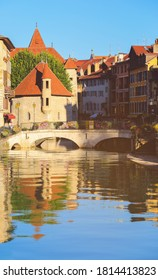 Palais de l'Isle, popular landmark in Annecy, the capital of Savoy, called Venice of the Alps, France