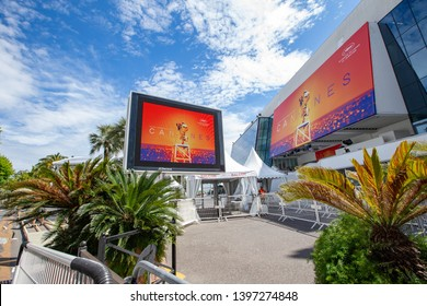 Palais des Festivals, opening of the Cannes Film Festival, May 14, 2019.   France Cannes.