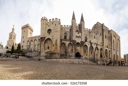 Palais des Papes (French Palais des papes d'Avignon.) - A monument of history and architecture in Avignon, France. The UNESCO World Heritage Site and one of the largest palaces in Europe