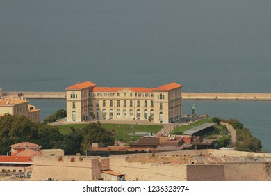Palais du Pharo and sea. Marseille, France