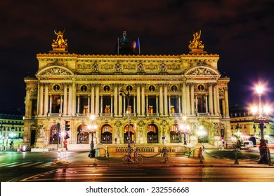 The Palais Garnier (National Opera House) in Paris, France in the night - Shutterstock ID 232556668