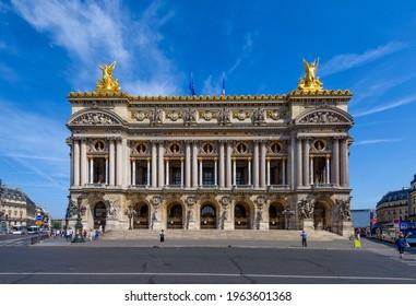 The Palais Garnier (Garnier Palace) or Opera Garnier in Paris, France. Architecture and landmark of Paris. Cozy Paris cityscape - Shutterstock ID 1963601368