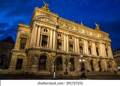 Palais or Opera Garnier & The National Academy of Music in Paris, France - Shutterstock ID 391727155
