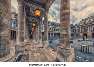 Palais Royal courtyard in Paris, France