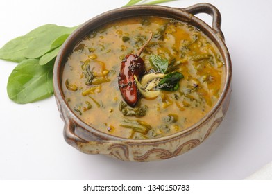 Palak Daal or Dal, Spinach Dal, Toor daal, yellow dal