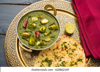 Palak Paneer Curry Made Up Of Spinach And Cottage Cheese Popular Indian Healthy Lunch