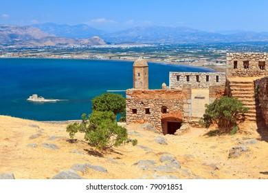 Palamidi castle in Nafplion, Greece