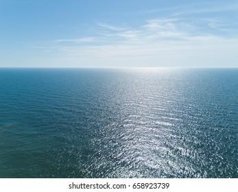 Palanga Lietuva Baltic Sea Seaside Aerial drone top view