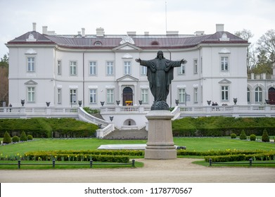 Palanga, Lithuania. APRIL - 28, 2018: The Tiskeviciai Palace Is Neo-Renaissance Style Building In Palanga, Lithuania. Since 1963 The Palace Has Housed The Palanga Amber Museum.