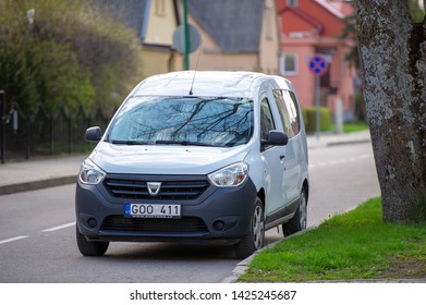 PALANGA, LITHUANIA - APRIL 28, 2018: Dacia Dokker van. The Dacia Dokker is a panel van and leisure activity vehicle (LAV) built at the Renault factory in Tangier, Morocco.