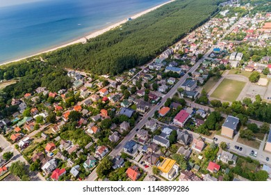 Palanga is a seaside resort town in western Lithuania, on the shore of the Baltic Sea. It is the busiest summer resort in Lithuania and has beaches of sand. View above.