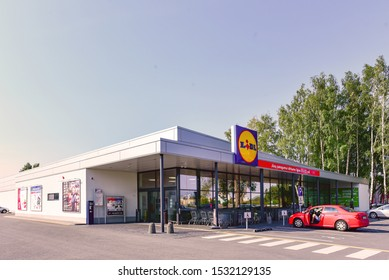 Palanga,Lithuania-September 09,2019:exterior of german supermarket LIDL.