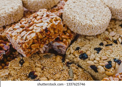 palanqueta Traditional mexican candy with peanuts crunchy and amaranth seeds
