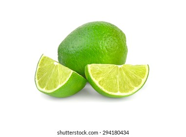Palatable lime isolated on white