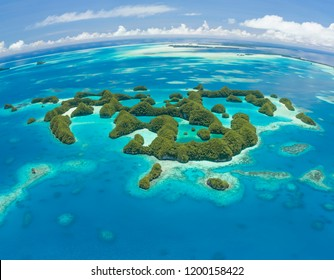 Palau 70 Islands aerial shot