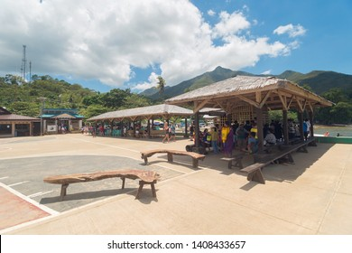 Palawan, Philippines - May, 3, 2019: Sabang port pier, waiting area before the Underground river