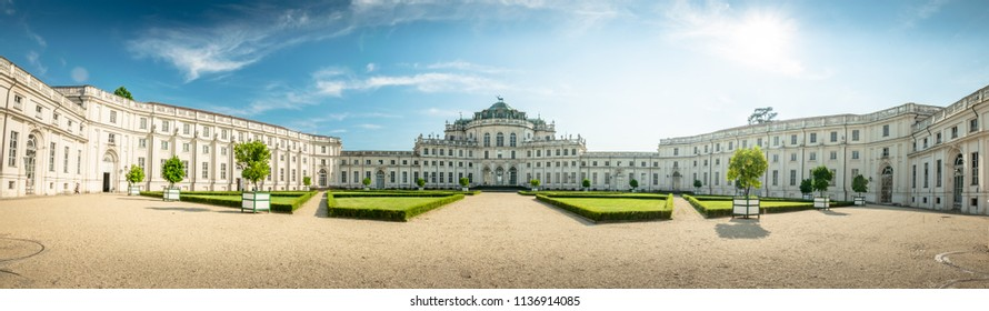 Palazzina di caccia of Stupinigi HD PANORAMA Turin palace. Hunting palace of the royal savoy house