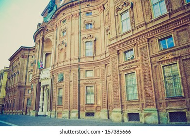 Palazzo Carignano seat of the first Italian houses of parliament Turin Italy vintage looking