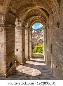 Palazzo dei Consoli in Gubbio, Province of Perugia, in the Umbria region of Italy.