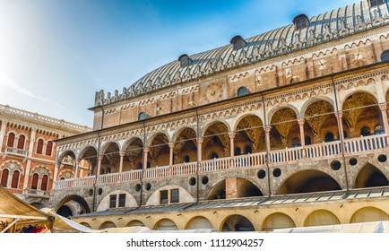 The Palazzo della Ragione, a medieval town hall building and landmark in Piazza delle Erbe, Padua, Italy