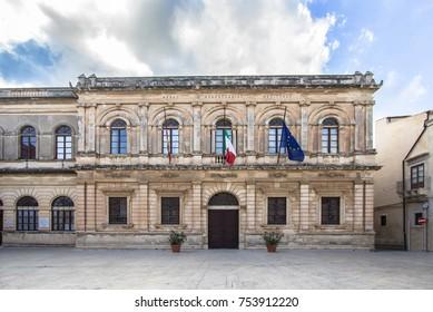 Palazzo della Sovrintendenza ai Beni Culturali della Provincia di Siracusa, Sicily, Italy