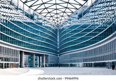 Palazzo Lombardia in Milan on April 6, 2012. This contemporary, futuristic modern glass building, is Lombardy regional government seat and was designed by Pei Cobb Freed & Partners