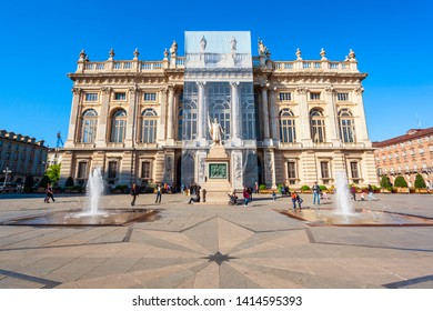 Palazzo Madama Palace at the Piazza  Castello or Castle Square in the centre of Turin city, Piedmont region of Italy