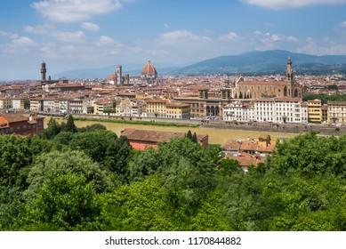 Palazzo Vecchio, Duomo and Basilica di Santa Croce from Piazzale Michelangelo