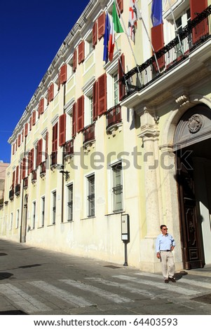 Palazzo Viceregio Cagliari Sardinia Italy Europe Stock ...