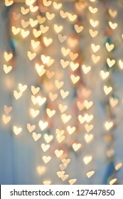 Pale Heart Bokeh on a cool background
